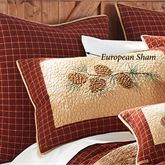 Pine Lodge Plaid European Sham Mahogany