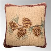 Pine Lodge Branch Quilted Pillow Mahogany 15 Square