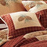 Pine Lodge Framed Pillow Mahogany 15 Square