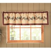 Pine Lodge Tailored Quilted Valance Mahogany 60 x 15