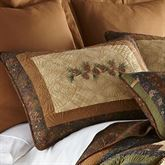 Cabin Raising Pine Cone Embroidered Quilted Sham Multi Earth Standard