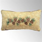 Cabin Raising Pine Cone Reversible Embroidered Pillow Multi Earth Rectangle