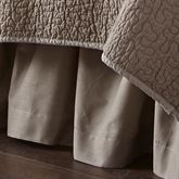Birch Forest Gathered Bedskirt Silver Gray