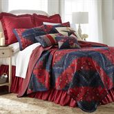 Plymouth Patchwork Quilt Dark Red