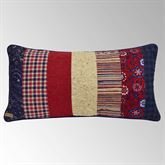 Plymouth Patchwork Quilted Pillow Dark Red Rectangle