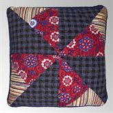 Plymouth Patchwork Pinwheel Pillow Dark Red 15 Square