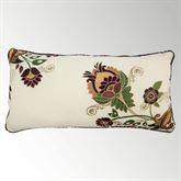 Spice Postage Stamp Embroidered Floral Pillow Multi Warm Rectangle