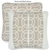 Nadia Reversible Geometric Pillow Parchment 20 Square
