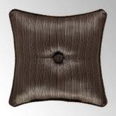 Neapolitan Tufted Pillow Cocoa 16 Square