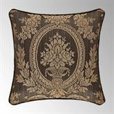Neapolitan Tufted Pillow Cocoa 18 Square