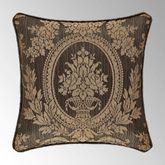 Neapolitan Jacquard Pillow Cocoa 18 Square