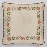 Meadow Embroidered European Sham Only Champagne