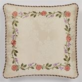Meadow European Pillow with Embroidered Sham Champagne