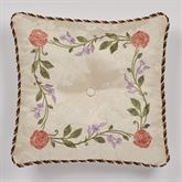 Meadow Embroidered Tufted Pillow Champagne 18 Square