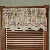 Meadow Scalloped Valance Champagne 72 x 18