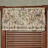 Meadow Embroidered Tie Up Valance Champagne 60 x 18