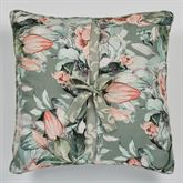 Catalina Peekaboo Piped Pillow Seagrass 18 Square