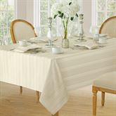 Bennington Stripe Square Tablecloth 52 Square