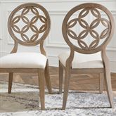 Hollace Dining Chairs Only Taupe Sand Set of Two