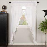 Muslin Ruffled Prairie Curtain Pair