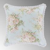 Hilary Floral Reversible Pillow Pale Blue 16 Square
