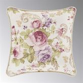 Chambord Printed Floral Corded Pillow Lavender 16 Square