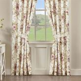 Chambord Floral Tailored Curtain Pair Lavender 82 x 84