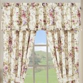 Chambord Floral Ruffled Valance Lavender 72 x 17