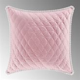 Rosemary Quilted European Sham Blush