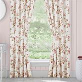 Rosemary Floral Tailored Curtain Pair Blush 82 x 84