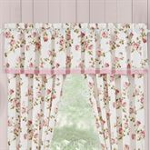 Rosemary Floral Tailored Valance Blush 72 x 17