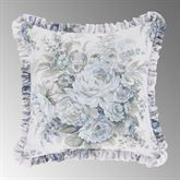 Estelle Reversible Ruffled Pillow Pale Blue 16 Square