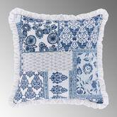Tessa Ruffled Pillow Indigo 16 Square