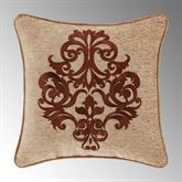 Luciana Embroidered Pillow Multi Warm 18 Square