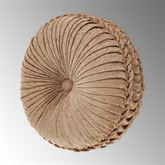 Luciana Pleated Tufted Pillow Multi Warm Round