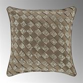Cracked Ice Basket Weave Pillow Light Taupe 18 Square