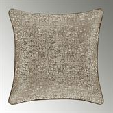 Cracked Ice Fractal Pillow Light Taupe 20 Square