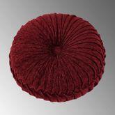 Taormina Reversible Tufted Pillow Burgundy Round