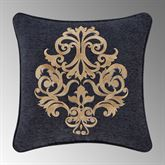 Luciana II Embroidered Pillow Denim 18 Square