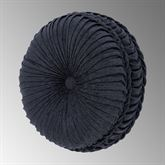 Luciana II Pleated Tufted Pillow Denim Round