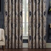 Luciana II Wide Tailored Curtain Pair Denim 100 x 84