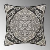 Vera Piped Reversible Pillow Black 20 Square