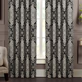 Vera Lined Wide Curtain Pair Black 100 x 84