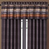 Mesa Stripe Tailored Valance Multi Warm 88 x 15