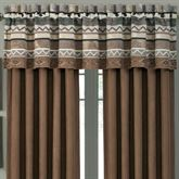 Timber Lined Tailored Valance Multi Warm 88 x 15