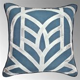 Mayfair Piped Pillow Steel Blue 20 Square