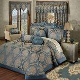 Castleton Grande Bedspread Steel Blue
