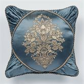 Castleton Embroidered Pillow Steel Blue 18 Square