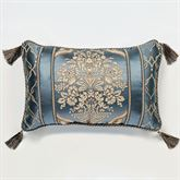 Castleton Tasseled Pillow Steel Blue Rectangle