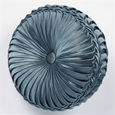Castleton Pleated Tufted Pillow Steel Blue Round